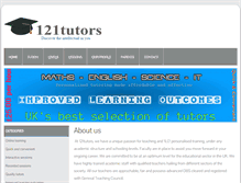 Tablet Preview of 121tutors.net